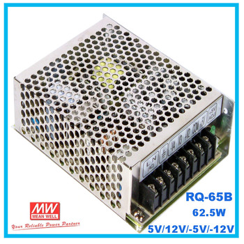 [PowerNex] MEAN WELL NEW RQ-65B 5V/12V/-5V/-12V AC/DC 62.5W Quad Output Switching Power Supply meanwell online store