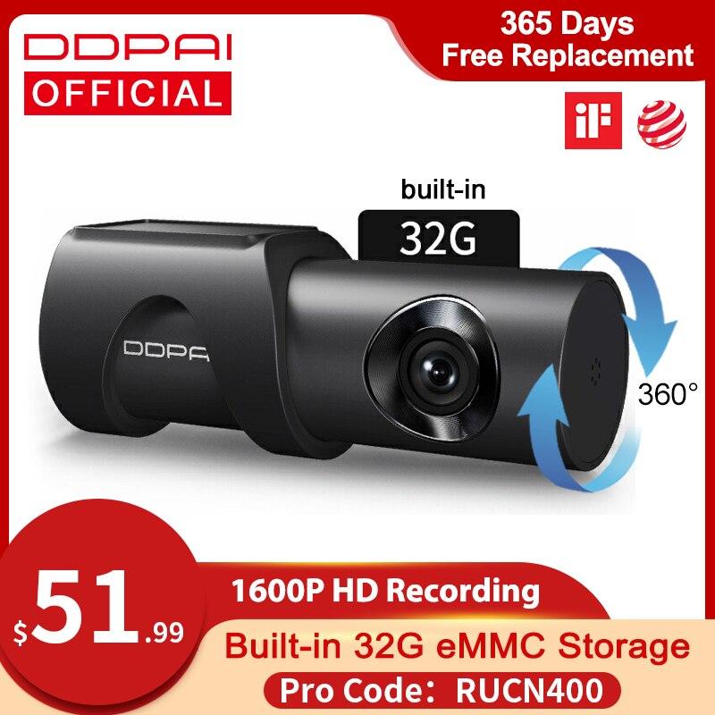 Ddpai Dash Cam Mini 3 1600P Hd Dvr Auto Camera Mini3 Auto Drive Voertuig Video Recroder 2K Android wifi Smart 24H Parking Camera