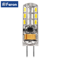 Лампа светодиодная Feron капсульная 12В G4 2W 3W 2700K 4000K 6400K
