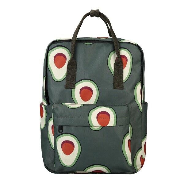 Avocado Print Canvas School Backpack - womens-school-backpacks, womens-canvas-backpacks, womens-bags, new-arrivals, mens-school-backpacks, mens-canvas-backpacks, mens-bags, google-feed-new