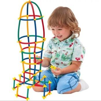 Dopuszczenie CE sztuk Super kijki bambusowe dzieci kolorowy zestaw do gry zabawa Montessori edukacja umiejętności kreatywność wyobraźnia tanie i dobre opinie TR (pochodzenie) Bambu Çubuklar