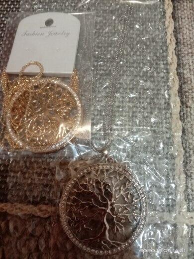 Collier Arbre de Vie avec son Pendentif recouvert de zircon
