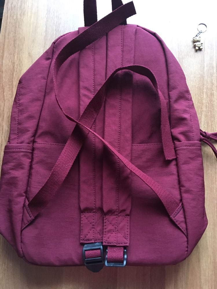Classic Waterproof Nylon Women Backpack Large Capacity Multiple Zip Pocket Backpacks Travel Bag Teenage Girls Schoolbag photo review