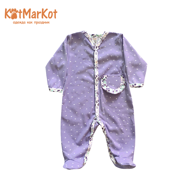 Rompers Kotmarkot 6296  overalls for newborn cat sotmarkets sandpiper baby clothes romper Cotton cat sotmarket Baby Girls Floral
