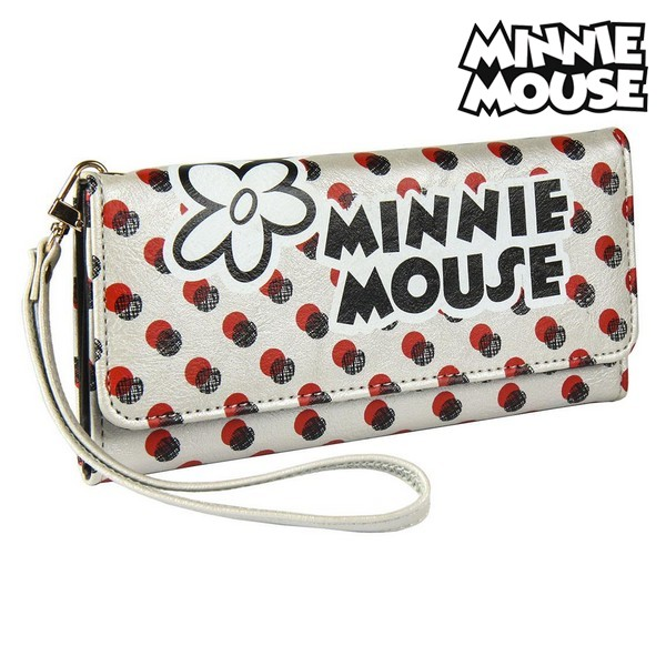 Purse Minnie Mouse Card Holder White Metallic 70687