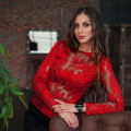 Blouse lace red