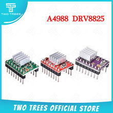 Twotrees peças de impressora 3d reprap a4988 drv8825 stepstick stepstick motor deslizante módulo com dissipador de calor drv8825 compatível