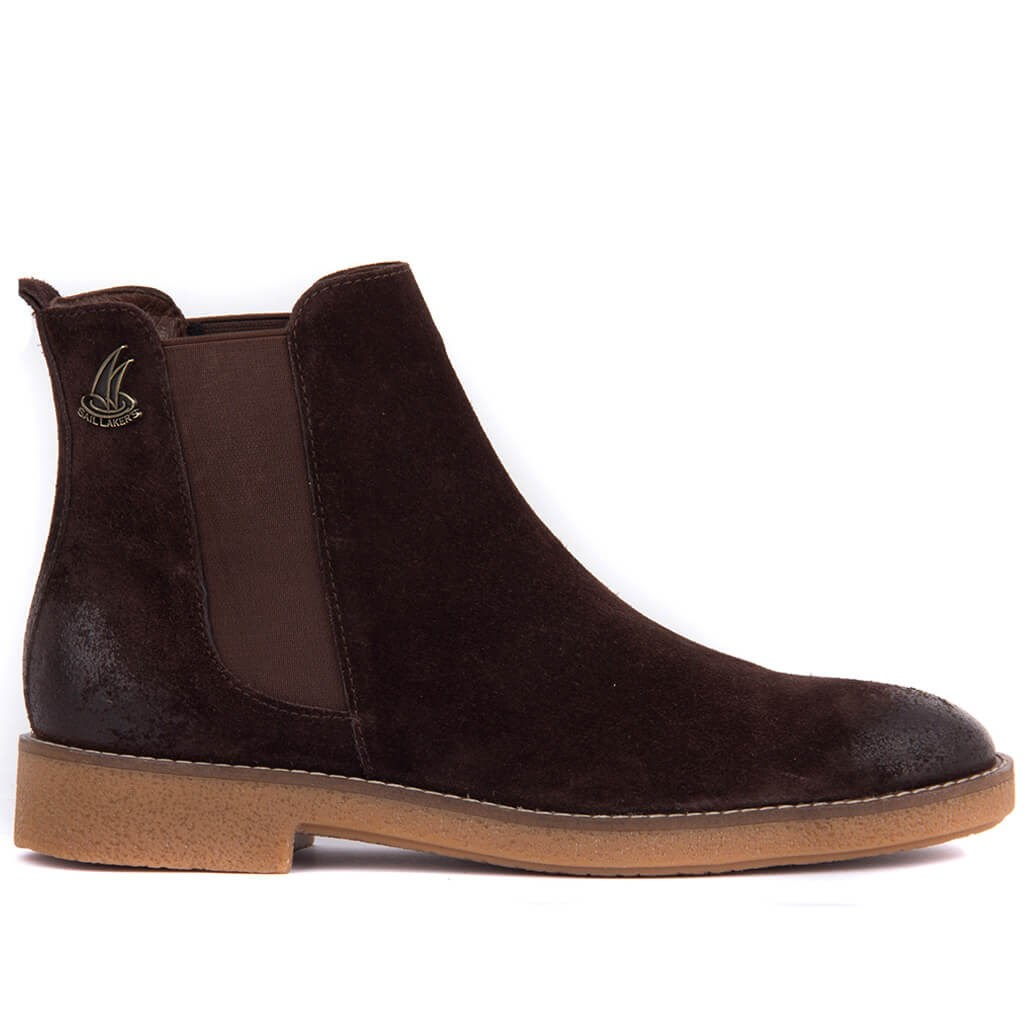 Sail Lakers-Brown Men Suede Boots