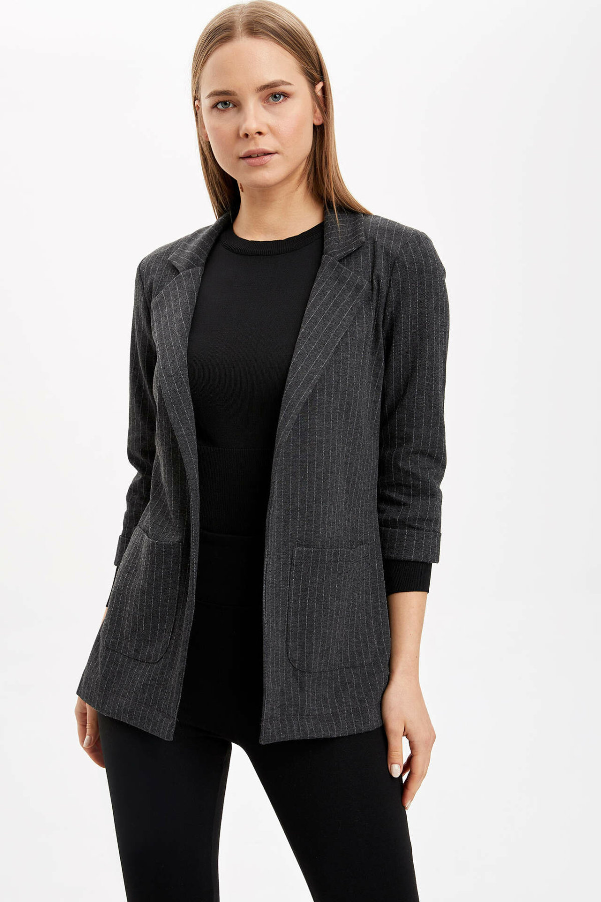 DeFacto Woman Cardigan Bolero Coats Office Lady OL Coats Women's Mid-sleeve Short Jacket Coats-N1333AZ20SP