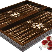 Orient Pearlescent Wooden Backgammon Set Big size