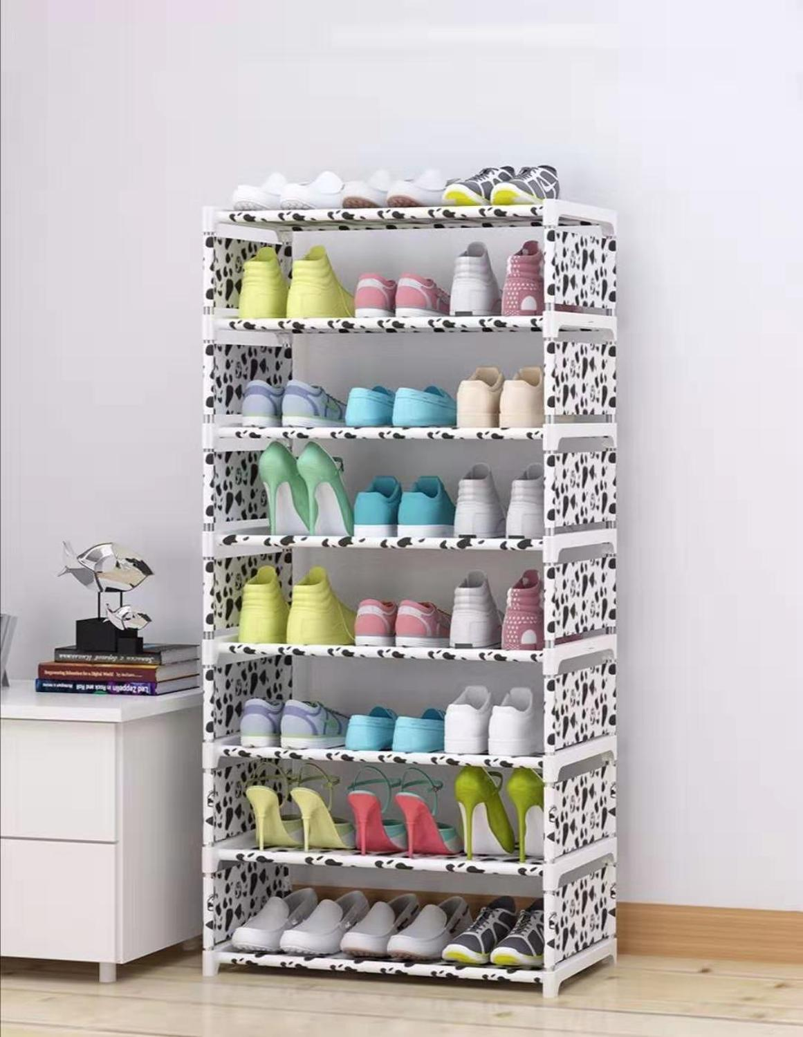 High Stand Bookcase Shoe Storage