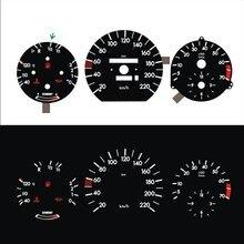 Тире B-J-L 220 км Пособия по экономике для W124 W126 W201 190E EL светящийся калибра черная Панель белый свет (1322133K)