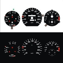 Dash B J L 220 Km Economie Voor W124 W126 W201 190E El Glow Gauge Zwart Paneel Wit Verlichting (1322133K)
