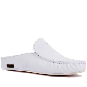 Image 2 - Sail Lakers Genuine Leather Men Slippers Rubber Soled Outdoor Slipper Flat Slippers Slip On Fashion Luxury Loafers zapatos de mujer туфли женские обувь женская