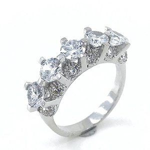Swarovski modelo especial qualidade prata dibs anel