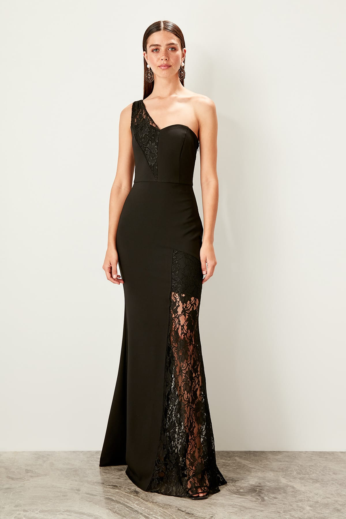 Trendyol Lace Detailed Evening Dress TPRSS19BB0419