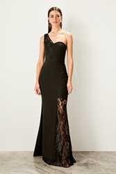 Trendyol Lace Detailed Evening Dress TPRSS19BB0419