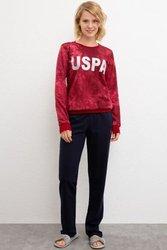 U.S. POLO ASSN. Бордо пижамный комплект