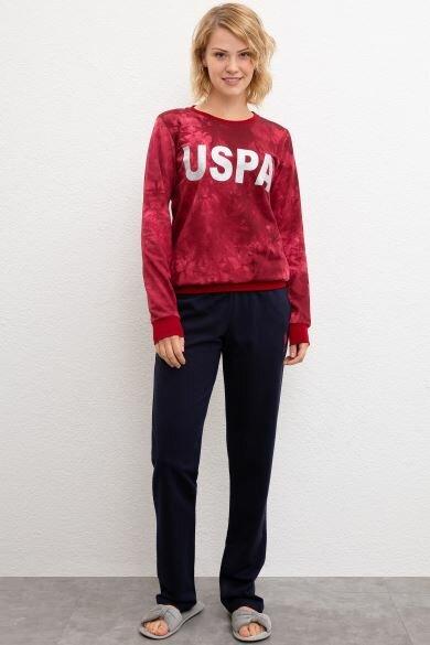 U.S. POLO ASSN. Bordeaux Pajamas Set