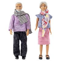 Dolls Lundby Doll House grandma and grandpa for children toys for kids game dolls toys for girls pups