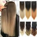 LISI HAIR 6H/613 # наращивание волос с зажимом 7 шт./компл. 16 заколок для наращивания волос прямые волосы из синтетического волокна