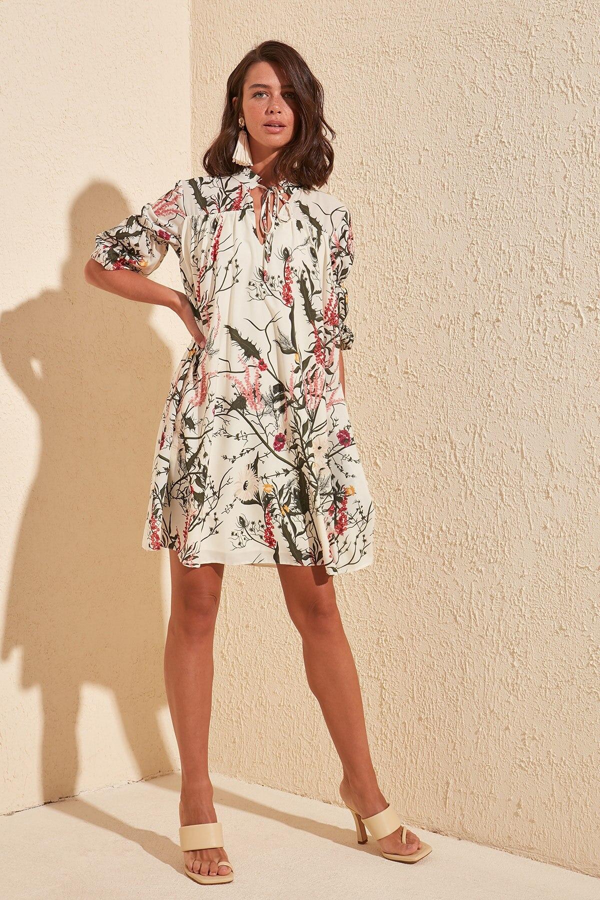 Trendyol Patterned Dress TWOSS20EL1238