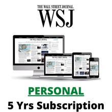Wall Street Journal  5 Years All Platforms iOS/Android/PC Region Free