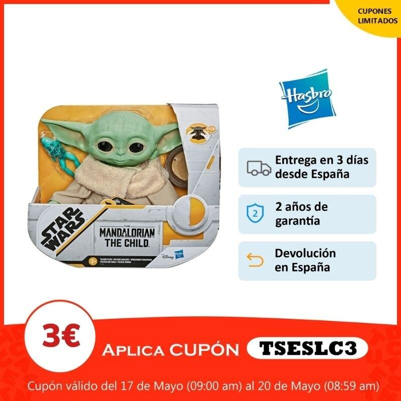 Hasbro Original Peluche Baby Yoda Figura Star Wars The Mandalorian 3 AÑOS+ Envío Gratis F11155L0|Figuras de acción| - AliExpress