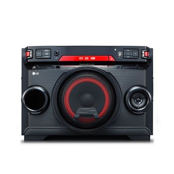 Mini Hifi LG OK45 220W Bluetooth Black Red