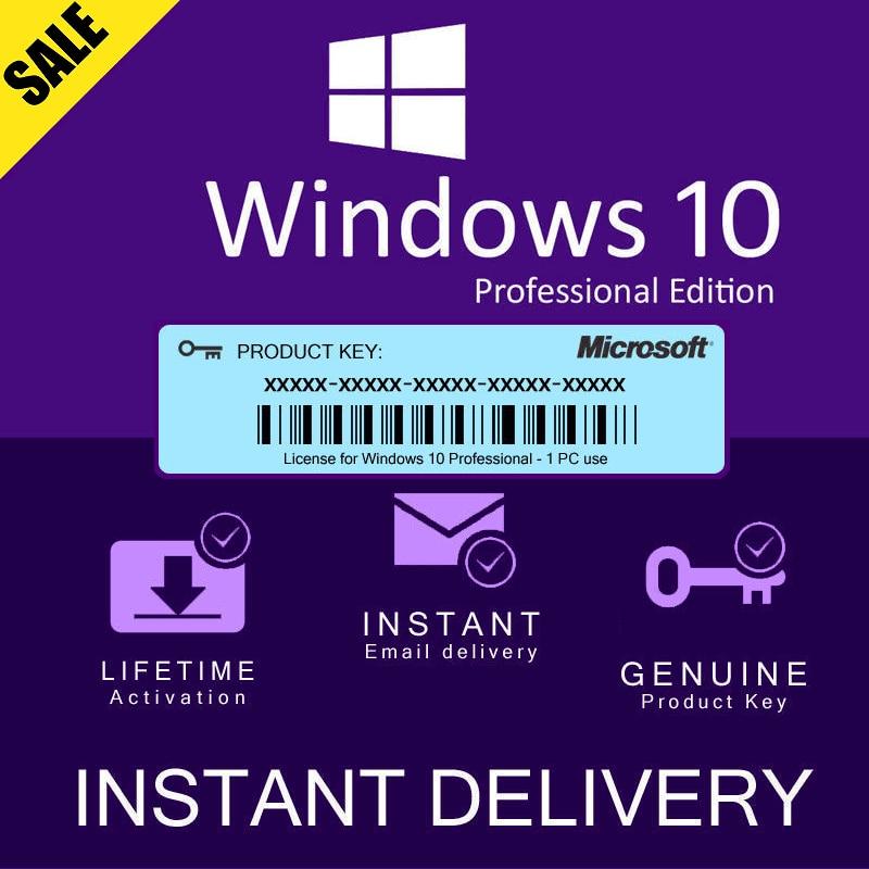 Microsoft Windows 10 PRO Профессиональный настоящий лицензионный ключ Мгновенная доставка 5 минут работа на сайте Microsoft Original|Игровые консоли|   | АлиЭкспресс