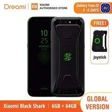 הגלובלי גרסת שחור כריש 64GB ROM 6GB RAM טלפון משחקים (חדש לגמרי וחתום) blackshark Smartphone נייד