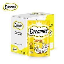 Лакомство для кошек Dreamies подушечки с сыром, 6 шт по 60г