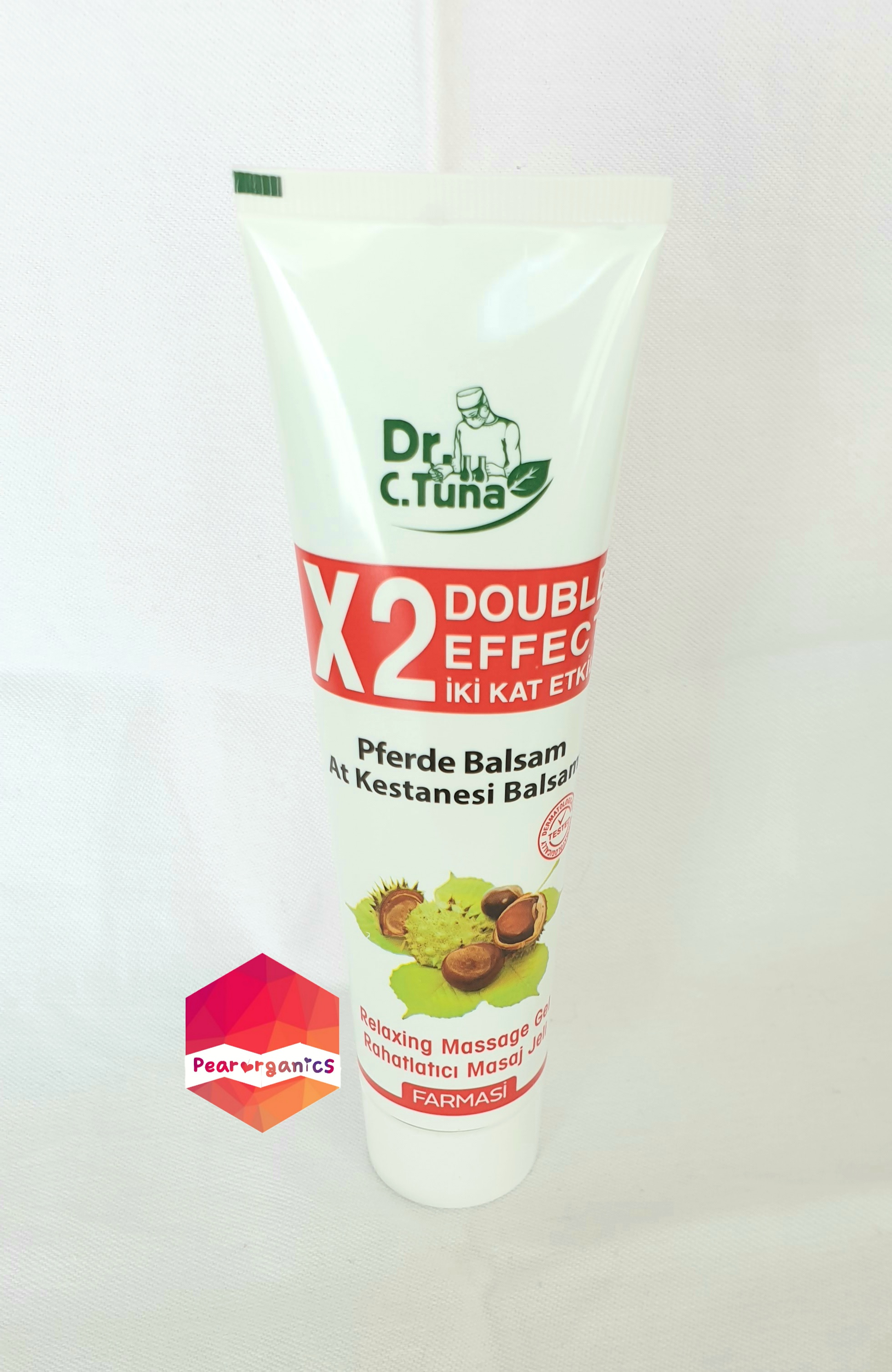 Horse Chestnut Massage Gel with Calming and Relaxing Effect 125 ML Farmasi Dr. Cevdet Tuna Refreshing,