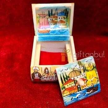 Turkish Bone Box Jewellery Box Ring Box Wedding Ceremony Proposal Handmade Hand Painted Compartment Box Women