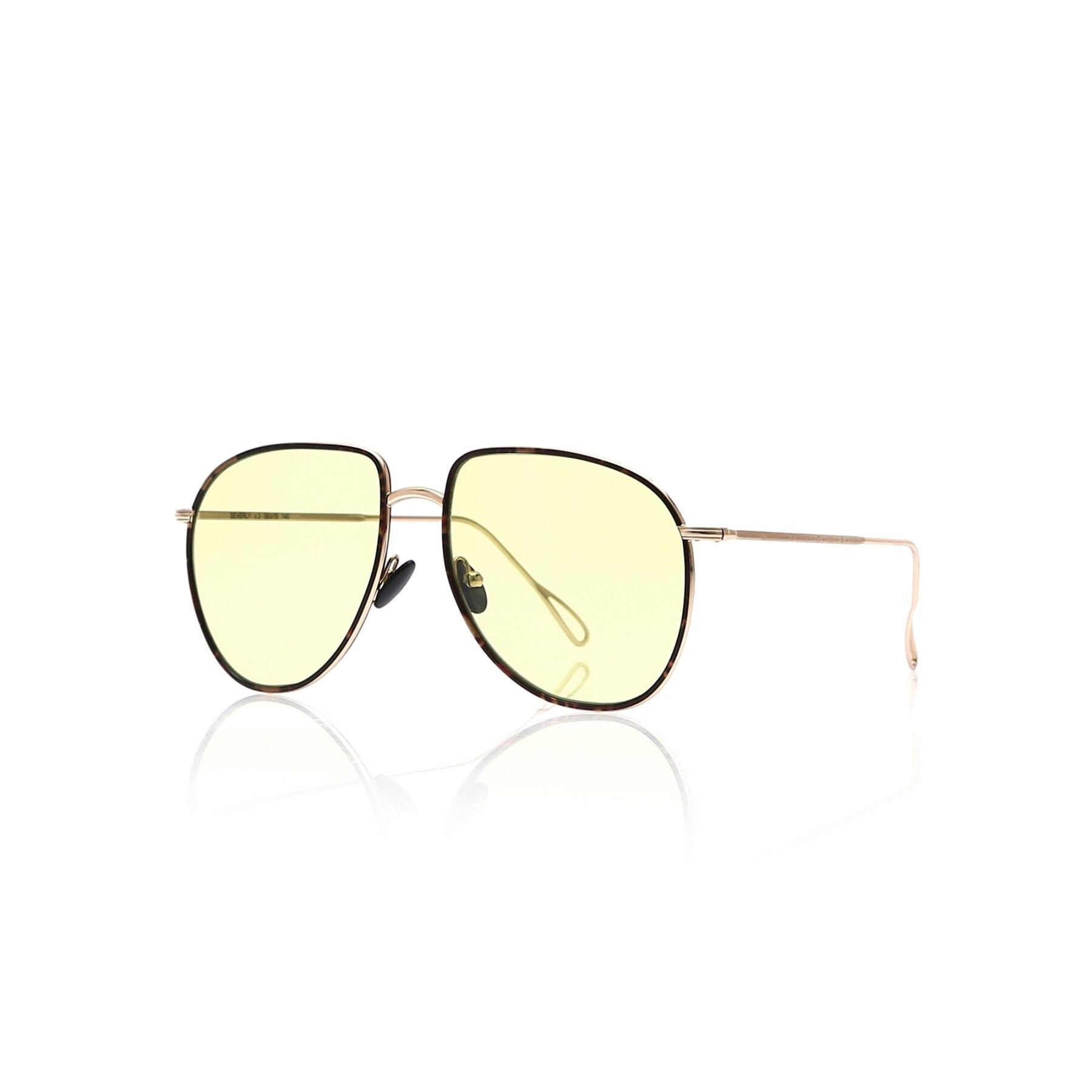 Women's sunglasses beverly 3 metal Brown organic pilot pilot 56-15-145 cyme