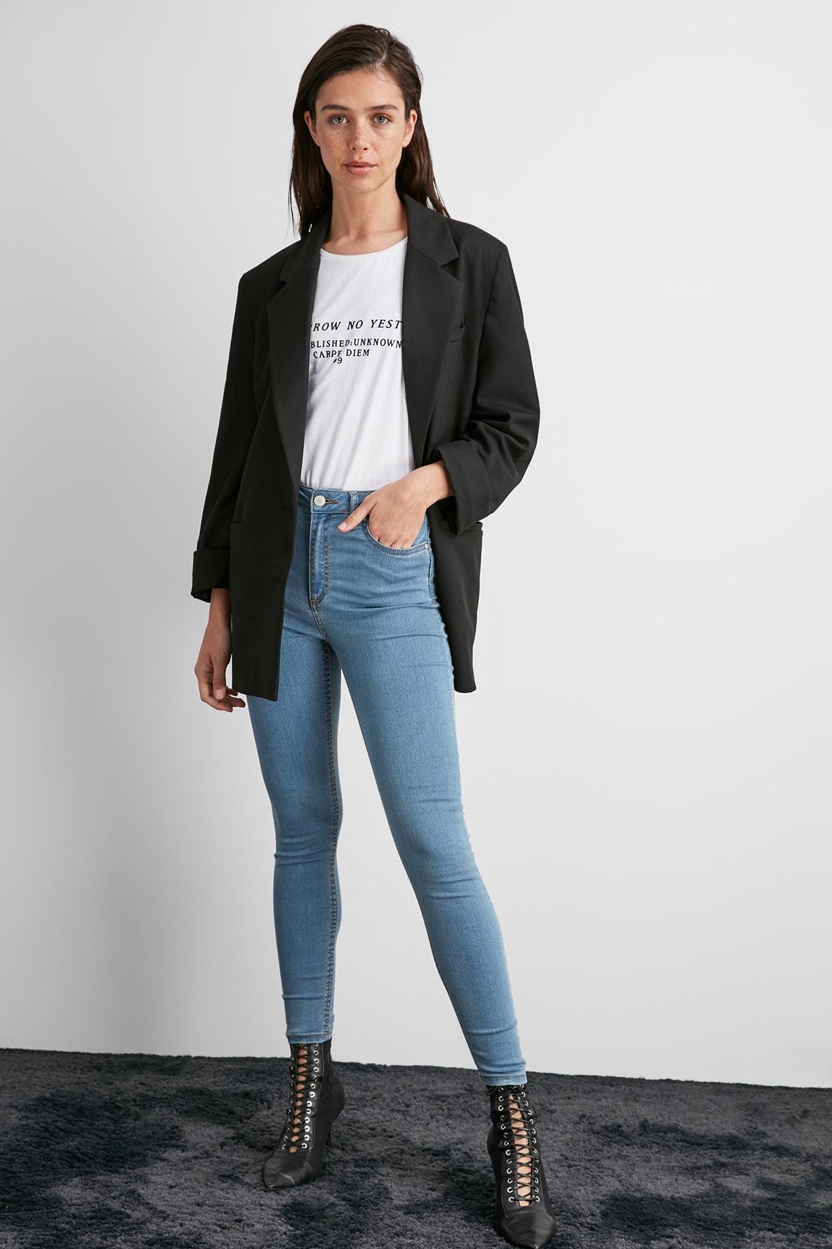 Trendyol High Waist Skinny Jeans TWOAW20JE0455