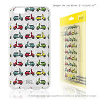 FunnyTech®Stand case for IPhone 5C L transparent Scooters Silicone