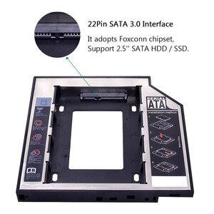 "Image 5 - kphrtek Second 2nd HDD Caddy 12.7mm 2.5"" SATA 3.0 SSD Case Hard Drive Enclosure Adapter + LED for Laptop CD ROM DVD ROM Optibay"