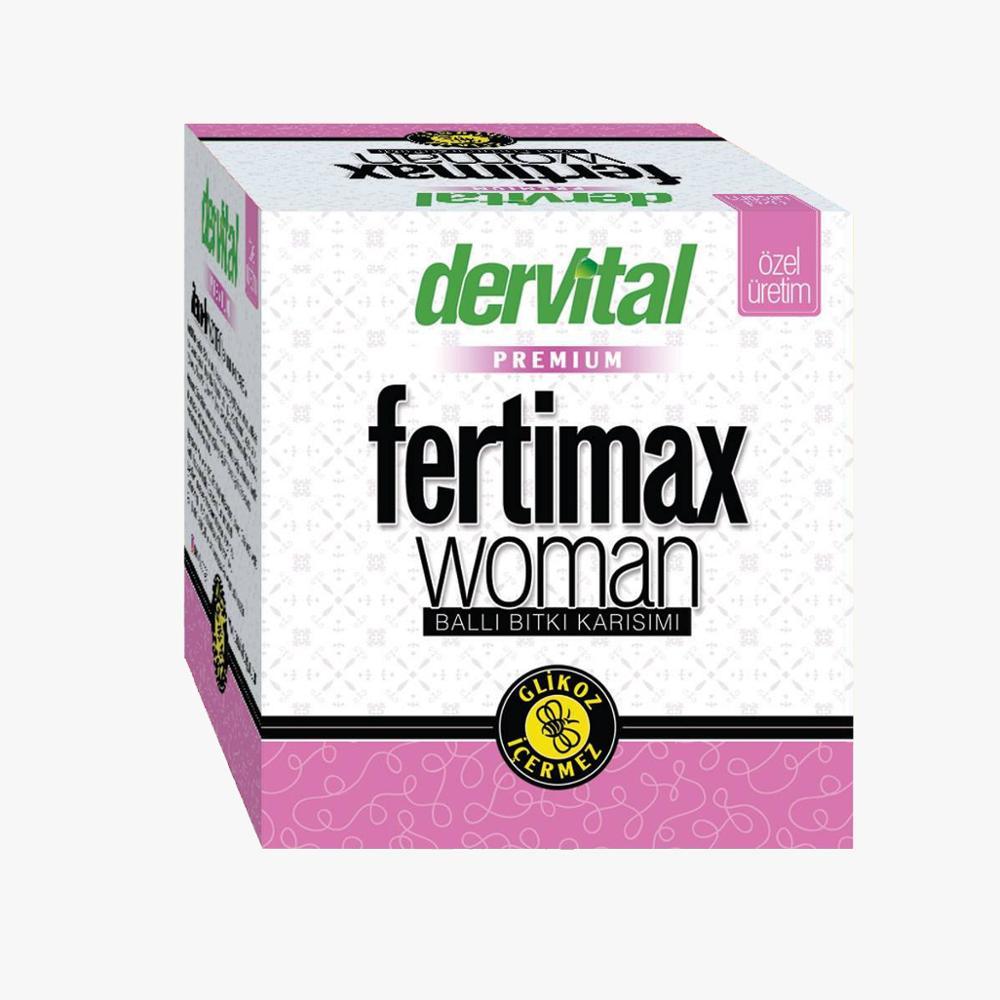 Fertimax Macun Paste For Female Fertility 230 Gr.  Royal Jelly,  Grape Seed, Pine Honey, Molasses, Linseed, Yarrow, Chaste Tree