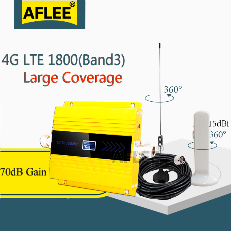 Big Sale!!1800Mhz LTE GSM 4G Cellular Amplifier  DCS LTE 1800 4G NetWork Mobile Signal Booster Repeater Gsm 2g 3g 4g Booseter
