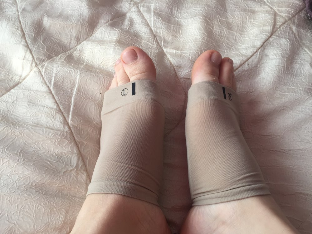Gel Plantar Fasciitis Foot Arch Support Sleeve photo review