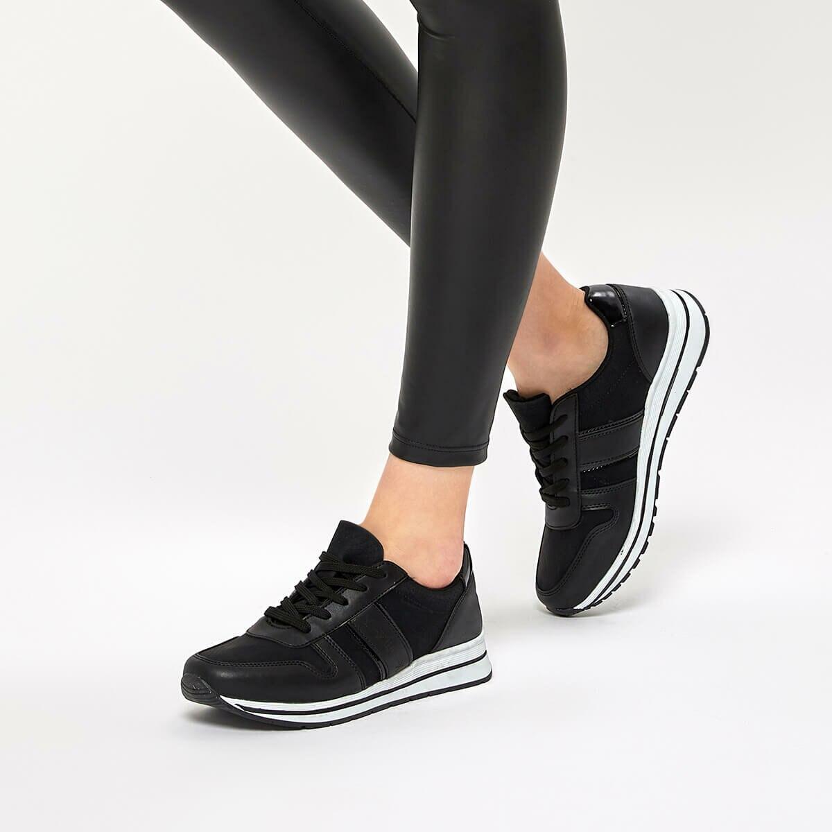 FLO ALESS 9PR Black Women 'S Sneaker Shoes KINETIX