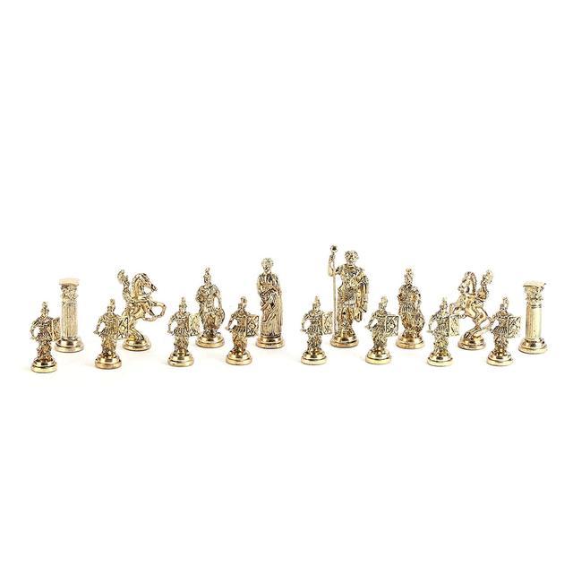 Figurines historiques romaines faites à la main, pièces d'échecs en métal 11cm, planche (sans plateau) 4