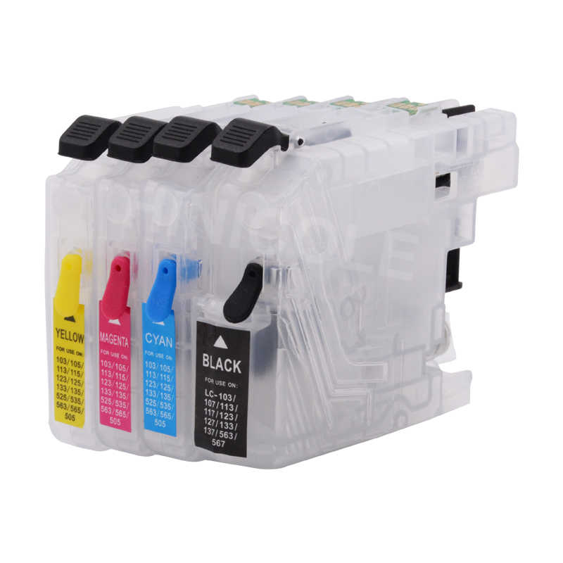 HINICOLE LC 123 XL yazıcı mürekkep kartuşları + 400ml mürekkep için Brother LC123 LC121 LC125 LC127 LC129 DCP J552DW j752DW J172W J132W
