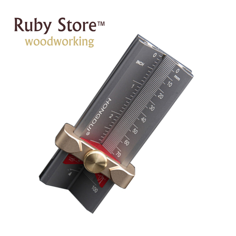 Gauge Stop Multifunctional Depth Height And Drill Angle Point HONGDUI Woodworking Drill