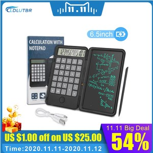6.5 inch 2 in 1 rechargeable Calculator Writing Tablet Portable Smart LCD Graphic Handwriting Pad Board drawing tablet paperless