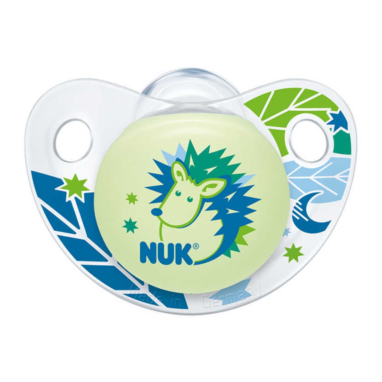 Ebebek Nuk Trendline Silicone Baby Pacifier 0-6 Months Night 1 Pcs