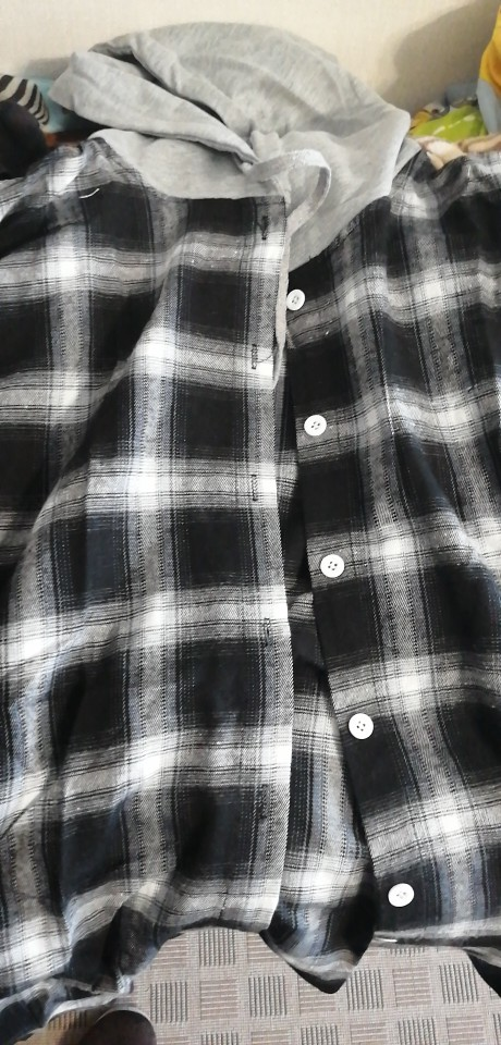 Casual Plaid Women Blouses Korean Student Hooded Plaid Shirt Female Long Sleeve Shirts Loose Camisa Tops Autumn photo review