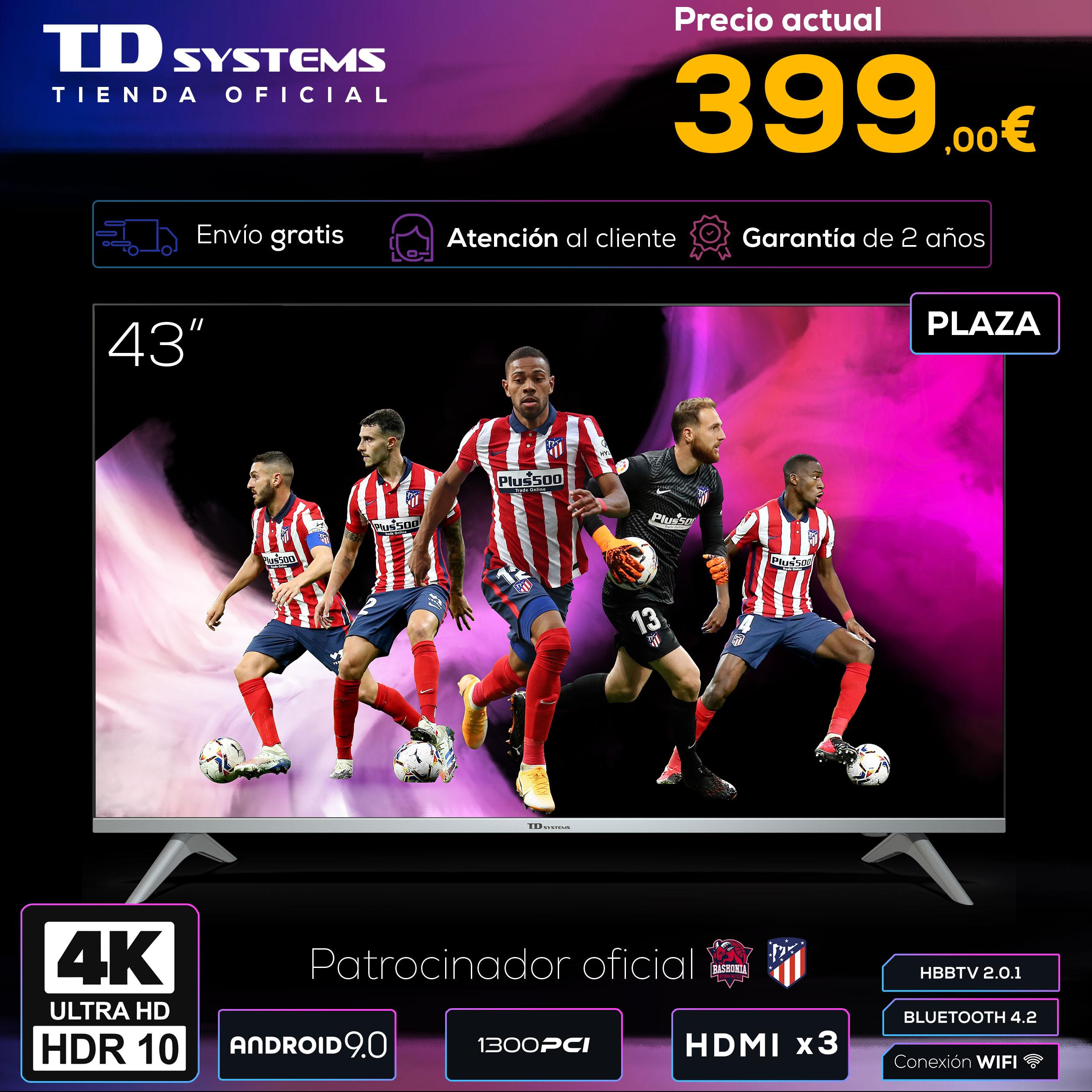 Televisores Smart TV 43 Pulgadas TD Systems K43DLX11US. UHD 4K HDR, DVB T2/C/S2, HbbTV [Envío desde España, garantía de 2 años]|Smart TV| - AliExpress