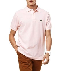 Pole LACOSTE L.12.12 BASIC for men short sleeve pink color stick